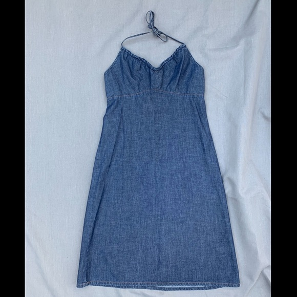 GAP Dresses & Skirts - Vintage Gap Jeans Halter dress, size 10